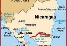 canale Nicaragua mappa