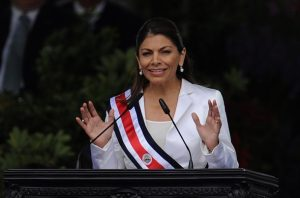 Costa Rican new President Laura Chinchil
